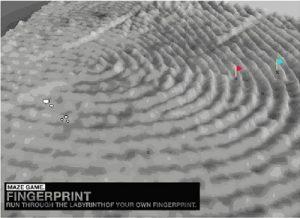 Finger Print Maze, Amy Franceschini, Richard Mortimer Humphrey, David Lu, Playshop 2004