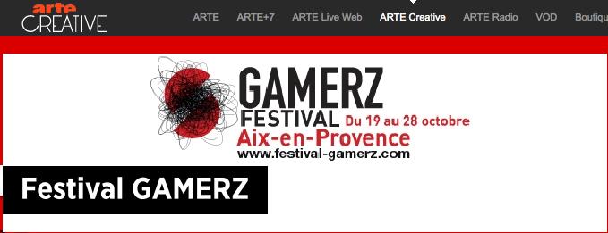 Festival Gamerz on Arte Creative