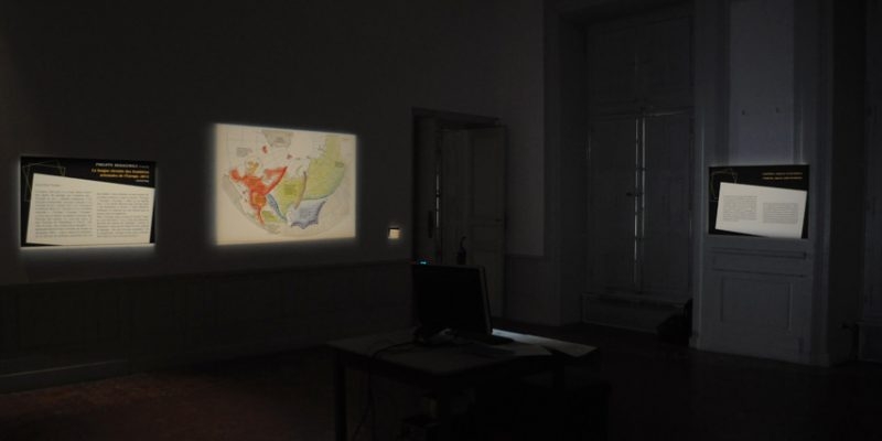 antiAtlas of Borders Installation view Musée des Tapisseries