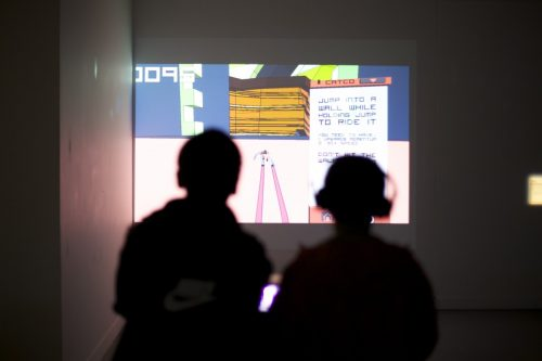 Games reflexions, an indie games exhibition curated by Isabelle Arvers, le Carreau, Cergy, 2013
