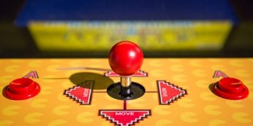 Pac-Man Joystick Evolution of Gaming / Retro-Gaming Exhibition by Isabelle Arvers