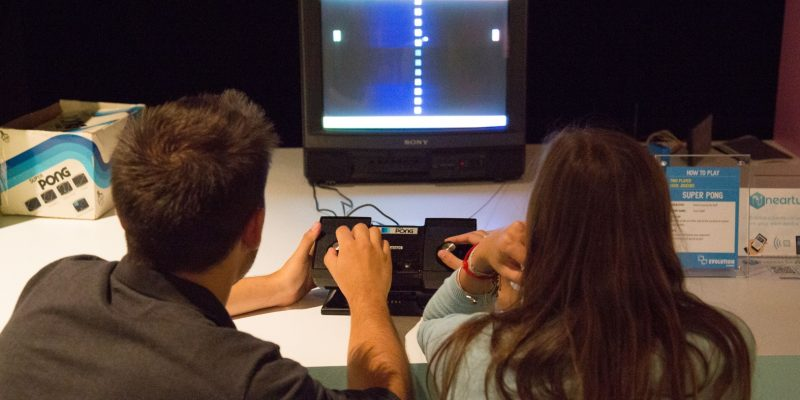 Pong Evolution of Gaming / Retro-Gaming Exhibition by Isabelle Arvers
