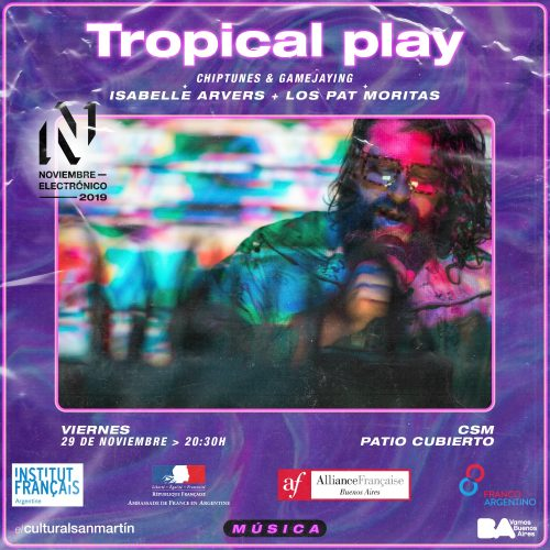 Tropical play chiptunes and game jay