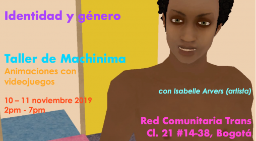 Red Comunitaria Trans machinima workshop Isabelle Arvers