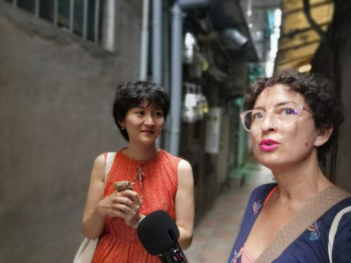 """""""Walk with me"""", an artistic walking performance by Wei Hsinyen in Taipei, Taiwan"""