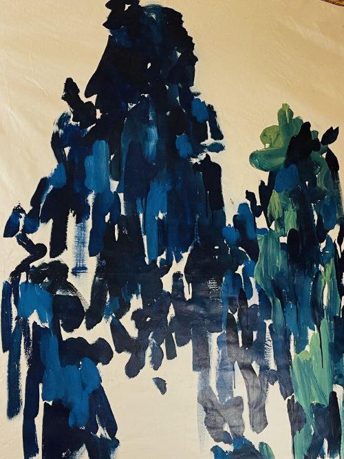 Blue walk, acrylics, 2020 Isabelle Arvers