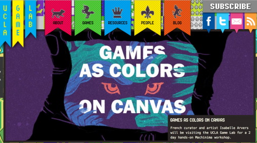 Games as colors on canvas Machinima workshop by Isabelle Arvers