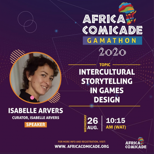 Isabelle Arvers at Africacomcade
